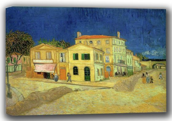 Van Gogh, Vincent: The Yellow House, 1888. Fine Art Canvas. Sizes: A4/A3/A2/A1 (001773)